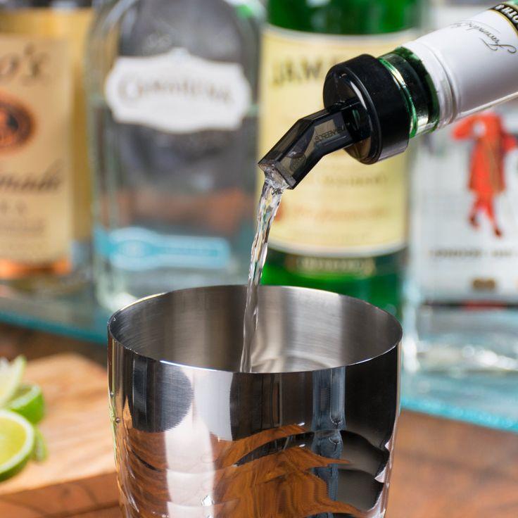 15 DZ Plastic SCREEN Liquor Free Flow Bar Wine Bottle Pourer Pour Spout Stopper