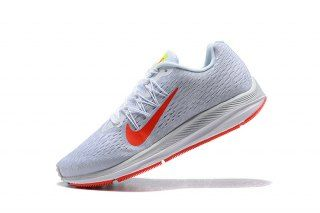 a8850dbad252e Nike Air Zoom Winflo 5 Pure Platinum White Wolf Grey Bright Crimson AA7414  005 Womens Running Shoes