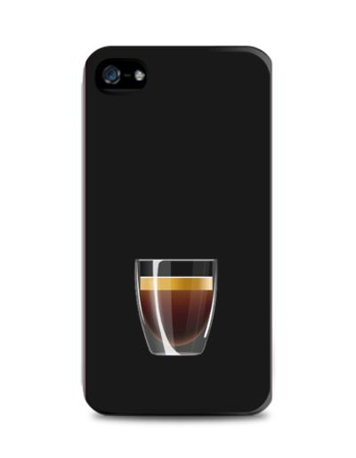 Espresso iPhone 4/4s Case by Moody Me. Black case with an espresso glass print on the case. This simple case made from plastic that wont scratch your phone and will protect it from dust. Available for iPhone 5, 5s, 5c, Samsung Galaxy Note 2, 3,Samsung Galaxy S3, S4, S5, Samsung Galaxy Grand, Xiamoi Redmi. http://zocko.it/LE1k5