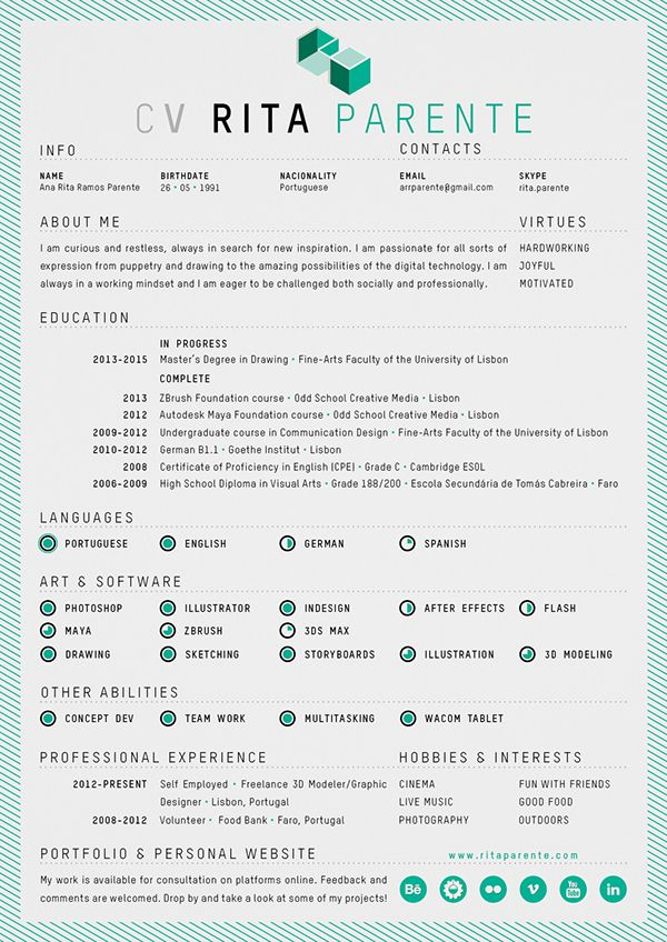 17 Best Images About CV\/ Resume On Pinterest Behance, Self   Resume For  Resume Self Employed
