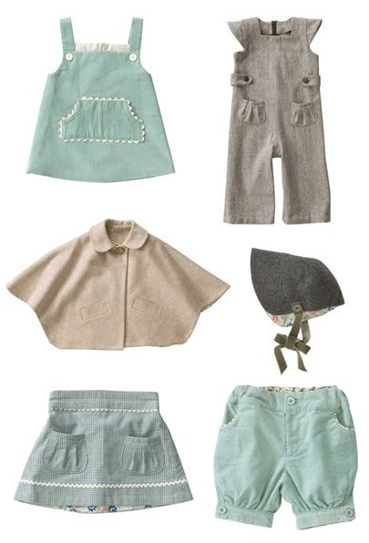 Olive's friend Pop - a post WWII inspired childrens clothing line. The colors are a little too washed out for my taste but some of her designs are so cute!