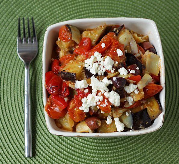 Warm Roasted Vegetable Mediterranean Salad