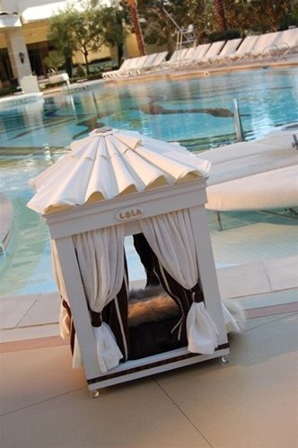 Royal Cabana Luxury Dog Bed...only $6,900!  Merl should have had one of these for the Rivah!