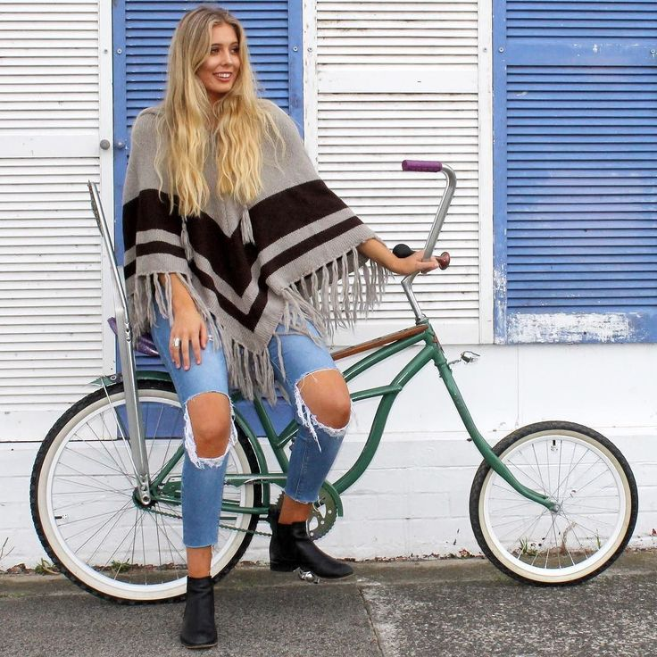 We LOVE the super cosy ONE SIZE FITS ALL Dejavu Poncho  Available now in 3 gorgeous colour combos   SHOP NOW & PAY LATER with Afterpay!  http://ift.tt/1kqYGi7    #bijou #knitwear #knit #knits #kimono #poncho #cosy #snug #warm #onesize #fashion #comfort #shop #boho #bohemian #style #bohemianstyle #dejavu #bike #lowrider #bicycle #vintage #fun