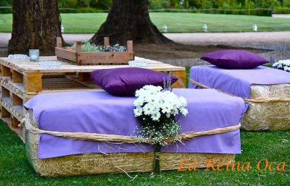 Decoraci n bodas r stico y provenzal bodas estilo for Adornos boda jardin