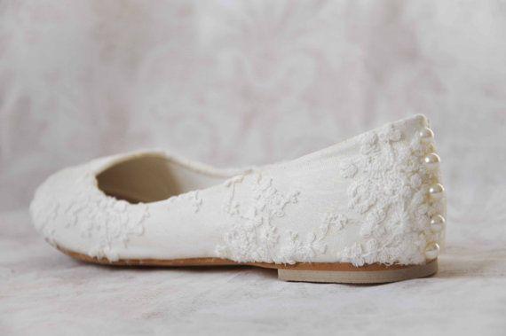 Bruiloft schoenen flats lace bruiloft schoenen appartementen