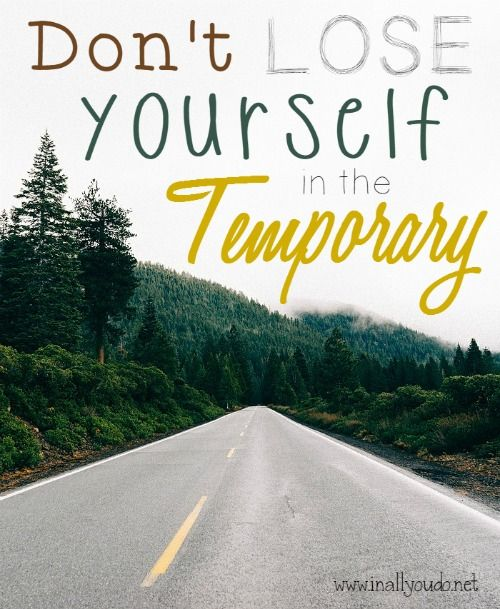 Are you a worrier? Do you get lost in the temporary? Be encouraged dear friend! The Great I AM has you under his wing!! :: www.inallyoudo.net