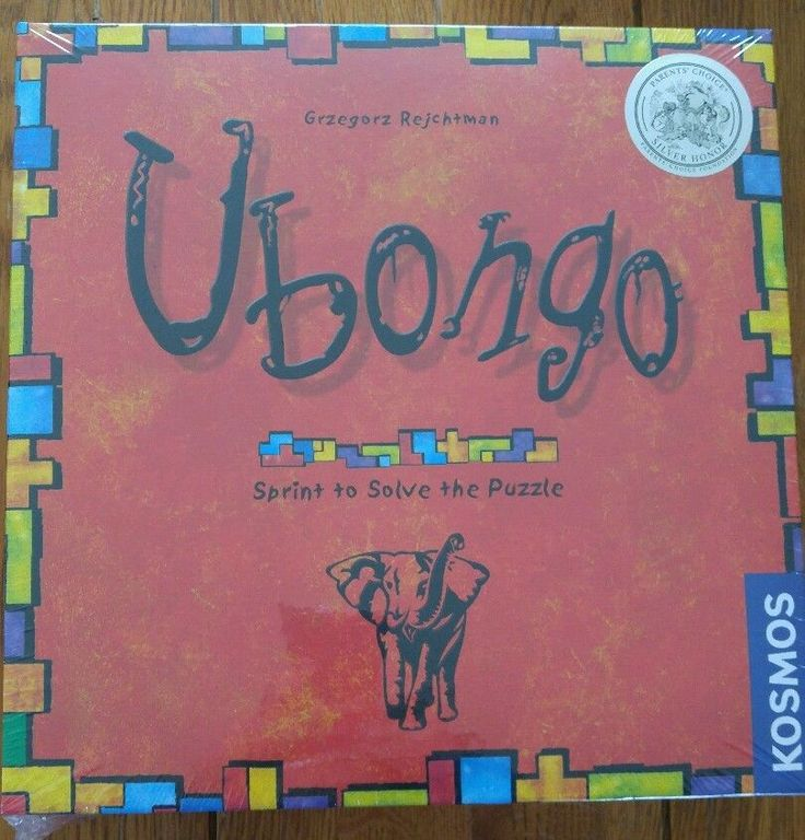 Board Game UBONGO Puzzle Solving Ages 8 +, 1 - 4 players Award Winning #Tactic
