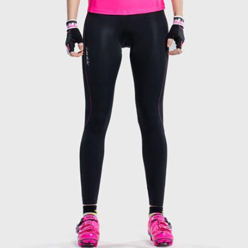 2018 SANTIC Womens Sports Cycling Tights Bike Long Pants Trousers 3D Pad Bottoms