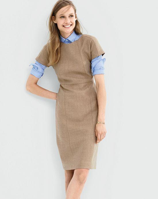 Model Crew Petite Presentation Dress In Blue  Lyst