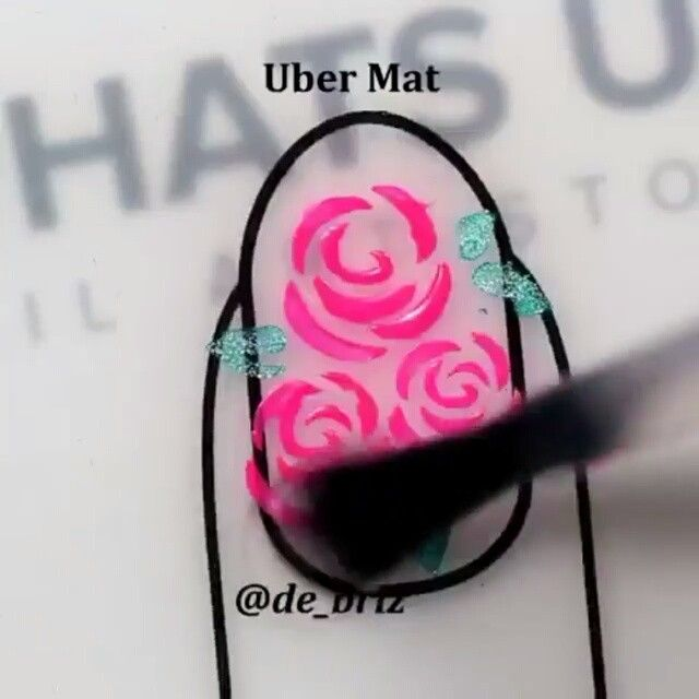 Amazing floral nails by @de_briz using Whats Up Nails roses stencils and Uber Mat by UberChic Beauty that are available for purchase on WhatsUpNails.com (link in bio). Shipping worldwide!  Tag your friend if you like it!  In our store whatsupnails.com you can get: · Whats Up Nails vinyl tape, stickers and stencils · Pure Color brushes, dotting and watermarble tools · Milv water decals · NCLA nail wraps · Mont Bleu glass files and tweezers · Liquid nail tape (purple stuff) Liquid Palisade by…