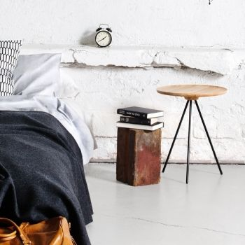 Key side table, ash/black, by One Nordic.