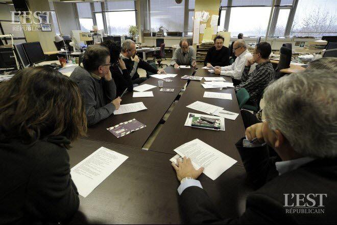 Le 16 novembre 2011, Richard Bohringer est rédacteur en chef d'un jour de L'Est républicain. Photos Alexandre MARCHI