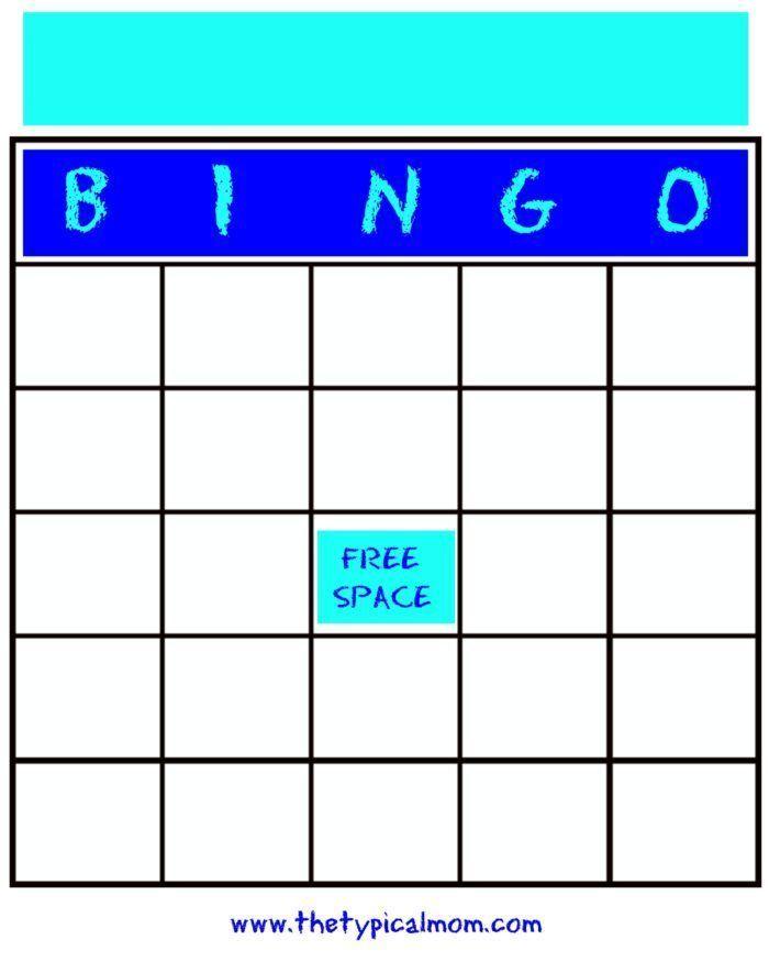 Free Printable Blank Bingo Cards Bingo Card Template Bingo Cards Blank Bingo Cards