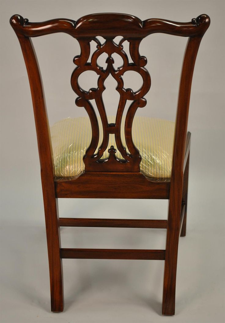 antique discount wood dining chairs   ... MAHOGANY CHIPPENDALE ...