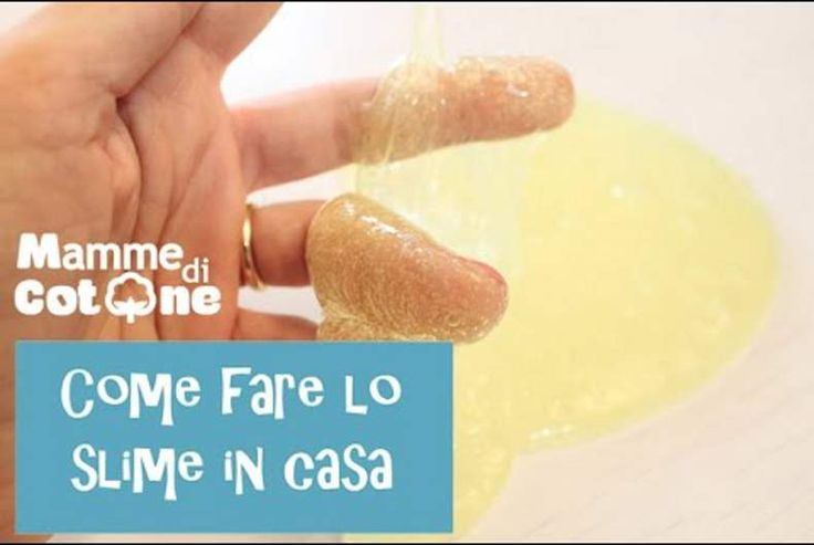 Come fare lo slime in casa con ingredienti adatti ai bambini