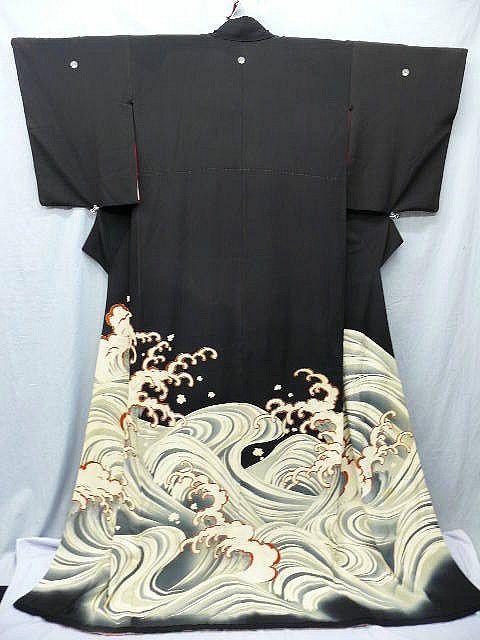 RP: Silk Kimono Wave Susohiki