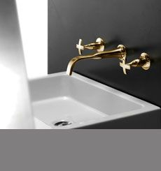 Coox Gold Wall Mounted Basin Taps (43F)