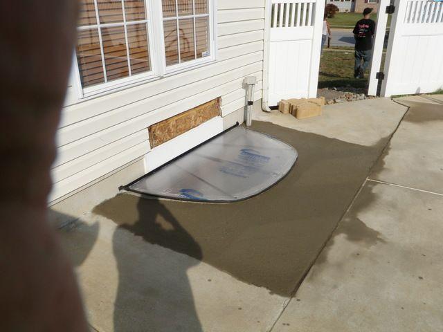 Middletown, DE New egress window for one happy homeowner