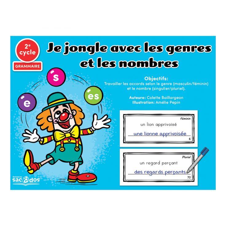 Ce jeu permet de les accords selon le genre (masculin/féminin) et le nombre (singulier/pluriel).