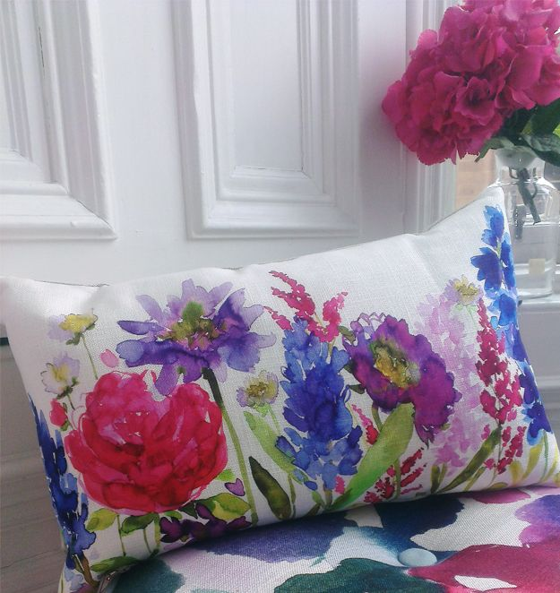bluebellgray  | New 'Centenary' cushion at Peter Jones for RHS Flower Show. I want one....