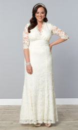 Amour Lace Wedding Gown, Ivory  (Womens Plus Size)…