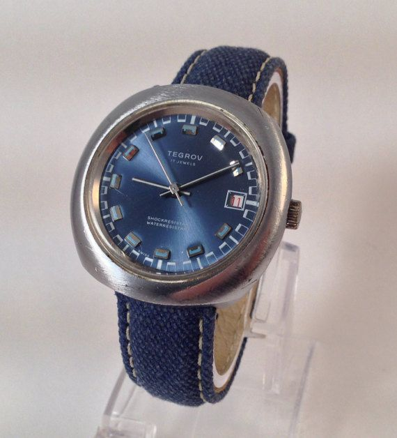 1970s Mens Watch Old Mechanical Hand Wind by StonebrookVintage