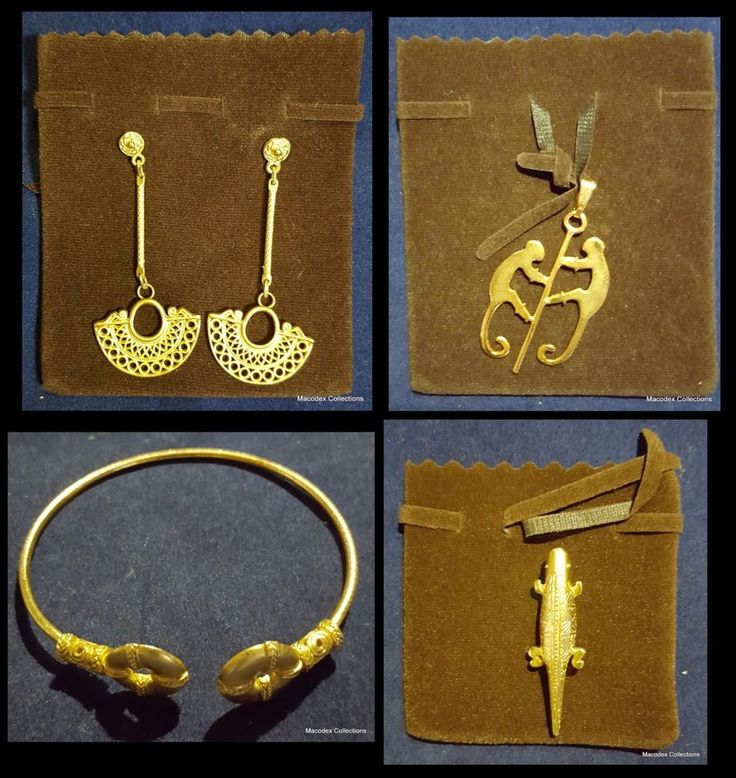 Beautiful Pre-columbian Jewelry Lot of (4), made in alloying with no iron #3