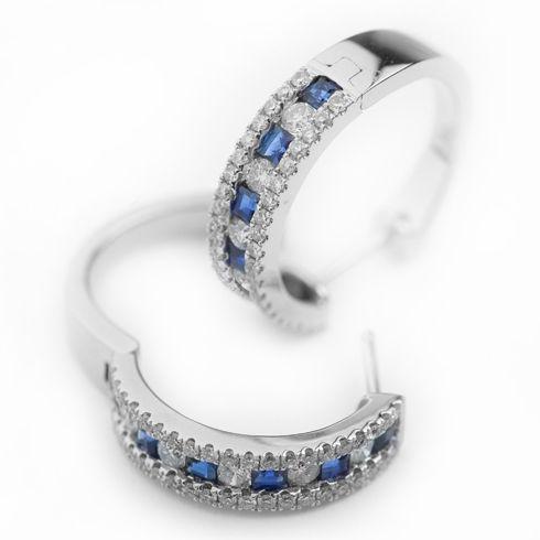 Cercei cu safire si diamante C105  #bijuterii #coriolan #cercei #earings #safire