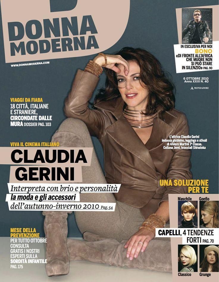 SHIVALOKA on the cover of Italy's fashion magazine Donna Moderna with Mel Gibson's Passion of The Christ star Claudia Gerini www.omshivaloka.com