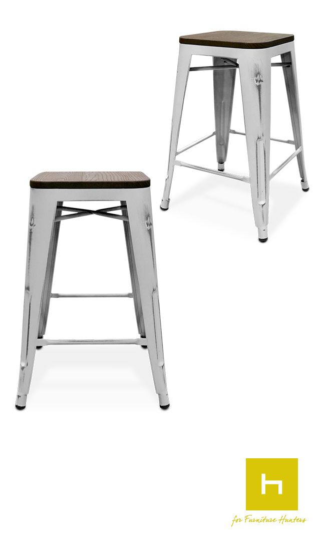 The Fez Bar Stool is comprised of a painted metal base with a warmly toned wooden seat, this is an industrial/chic looking bar stool which can be used to add a splash of colour to your kitchen or dining area. #furniturehunters #barstools