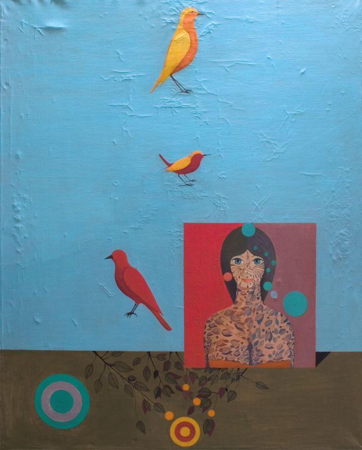 Kazimierz Mikulski, Ptaki, 1967 rok #birds #ptaki #kolekcjaMNK #MNKcollection #kolekcja