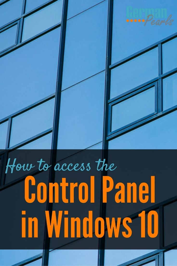 As a new user I was so frustrated trying to find the control panel in Windows 10. Now I've been using the first method mentioned here, although the other ones are easy as well. via @GermanPearls
