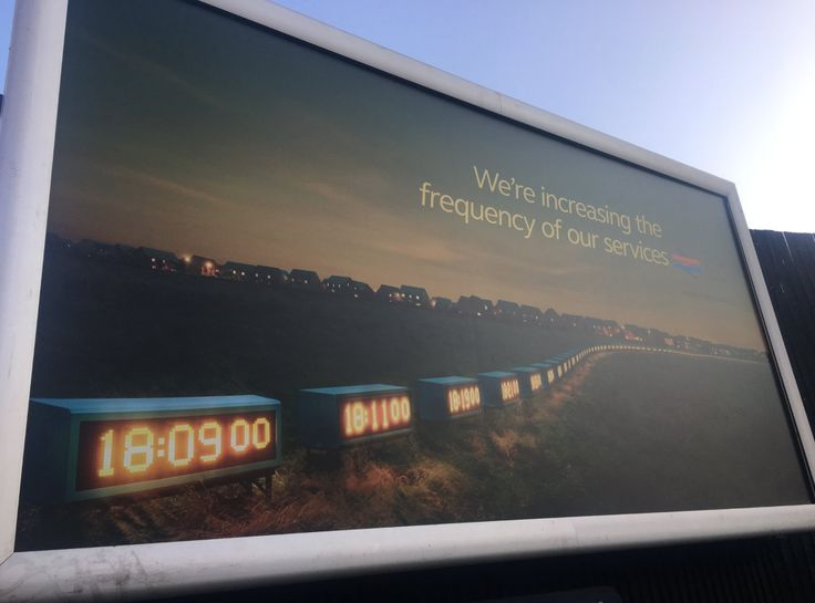 British Rail campaign live on London billboards