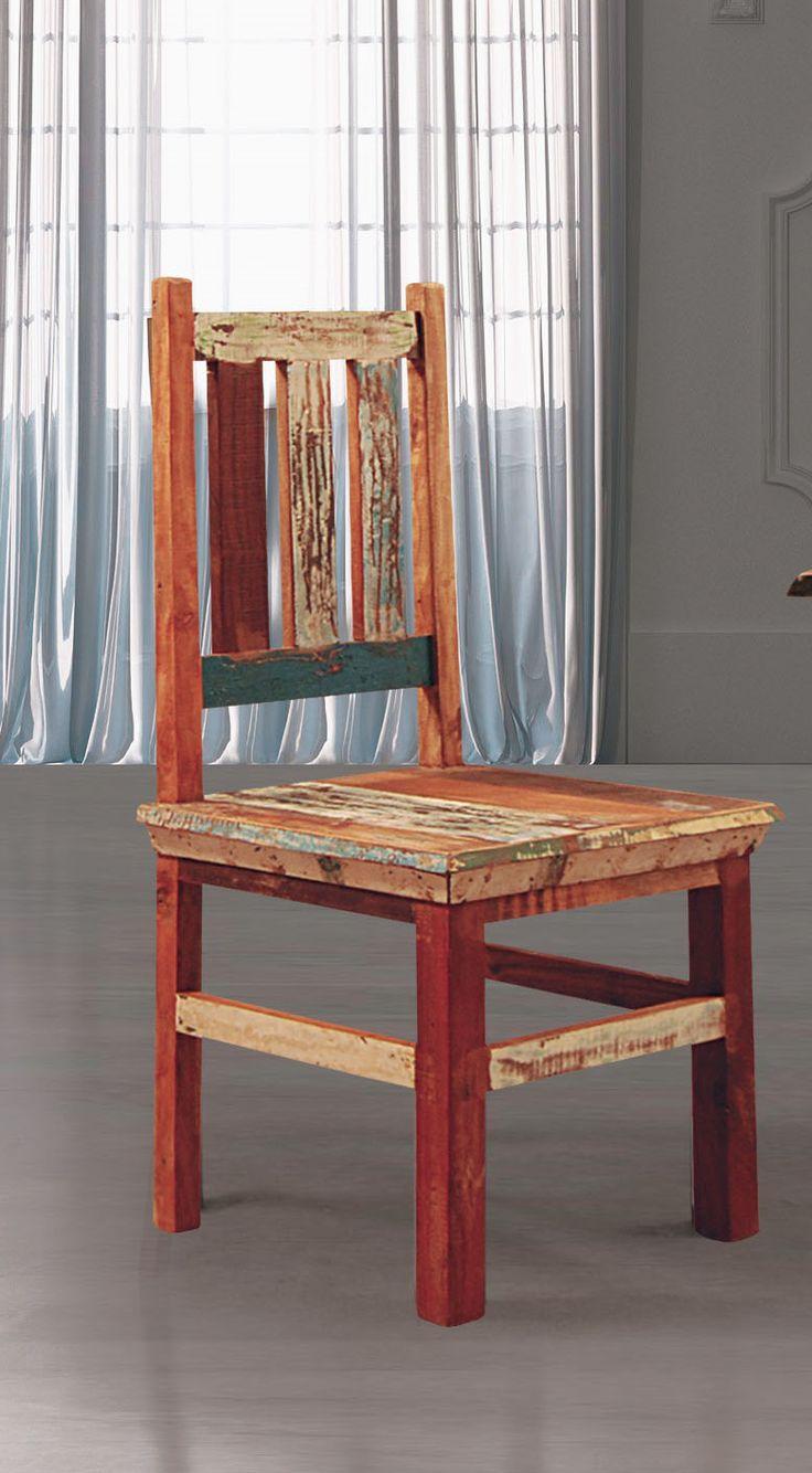 Esszimmerstuhl Aus Recycelterm Holz Im Zeitgenössischen Stil