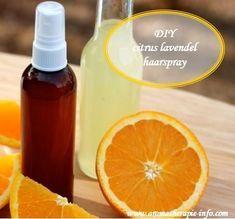 Zelf je haarlak maken is helemaal niet moeilijk met dit diy citrus lavendel haarspray recept en de ingrediënten voor deze haarlak heb je waarschijnlijk al in huis.
