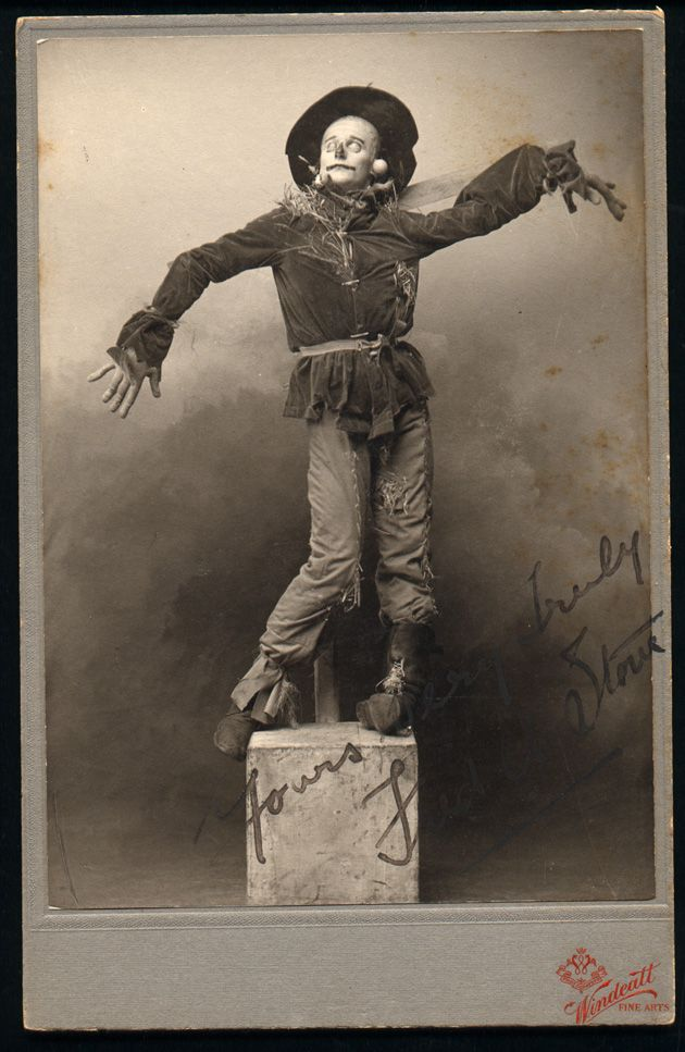 Fred Stone as the Scarecrow wardrobe test for The Wizard of Oz