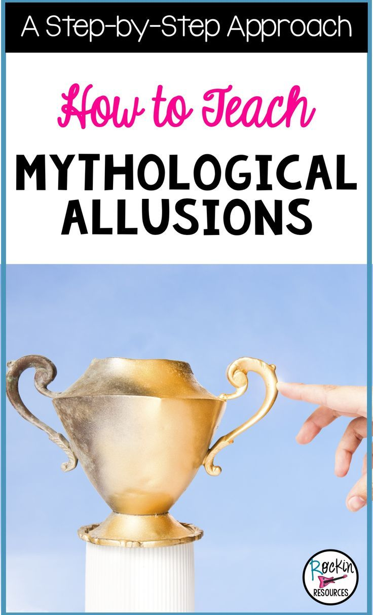 This step-by-step approach helps students learn how to determine mythological allusions in text. Since it is a difficult standard to teach, this method breaks it down and shows students an effective way to determine the meaning of allusions.