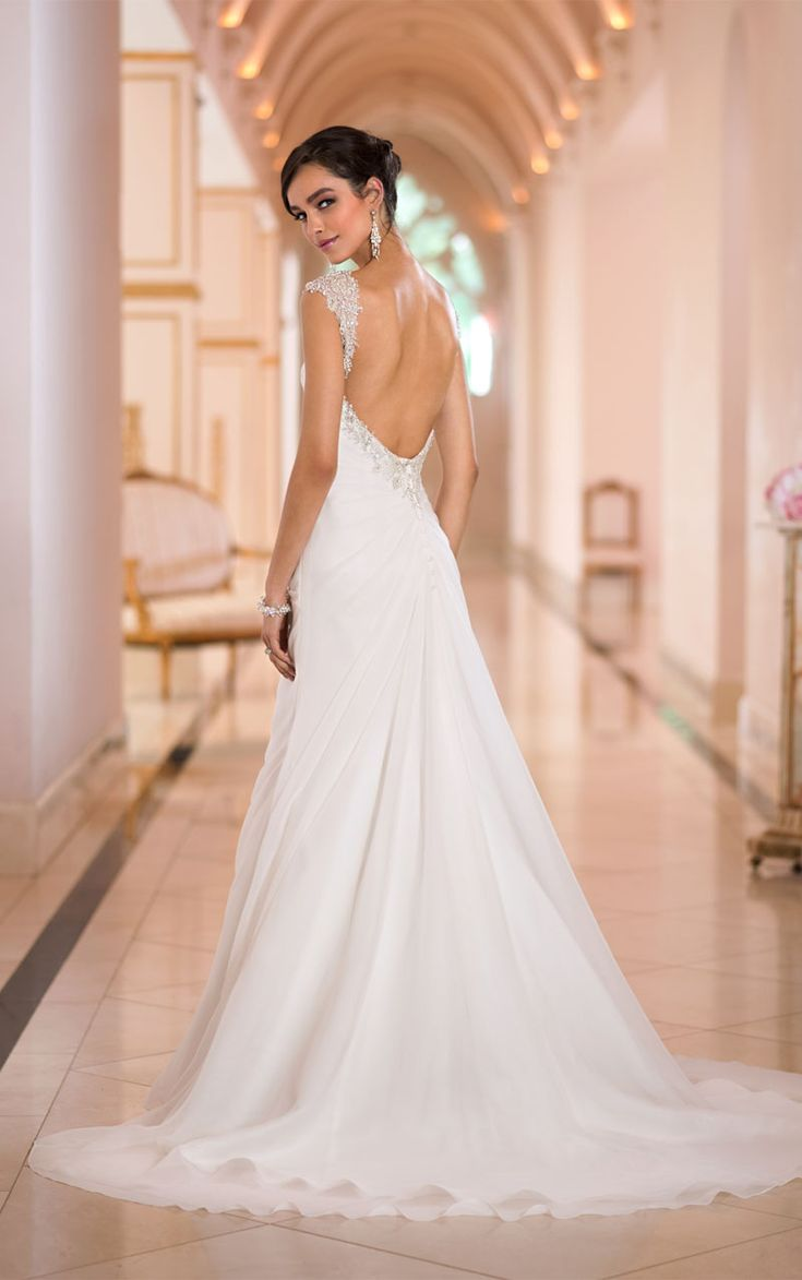 15 best Chiffon Wedding Dress images on Pinterest | Wedding dressses ...