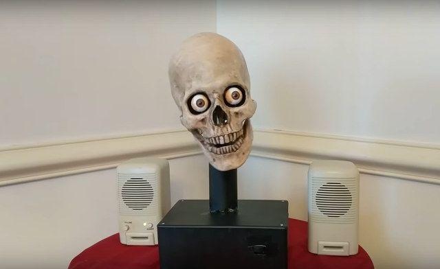 Man Hacks Amazon's Alexa Into A Talking Skull Head