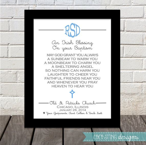 Baptismal Irish Blessing Gifts Irish Blessing And Irish