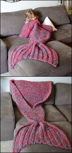 Here's a mermaid blanket that might interest you!  http://craft.ideas2live4.com/2015/12/11/crocheted-mermaid-tail-blankets/  This crocheted mermaid tail blanket is just perfect for keeping your legs warm without having to crawl back to bed. Also, they're nicer to see in the living room than a bed blanket. ;)  Get more DIY mermaid tail blanket inspiration from the album on our site and learn how to make it!