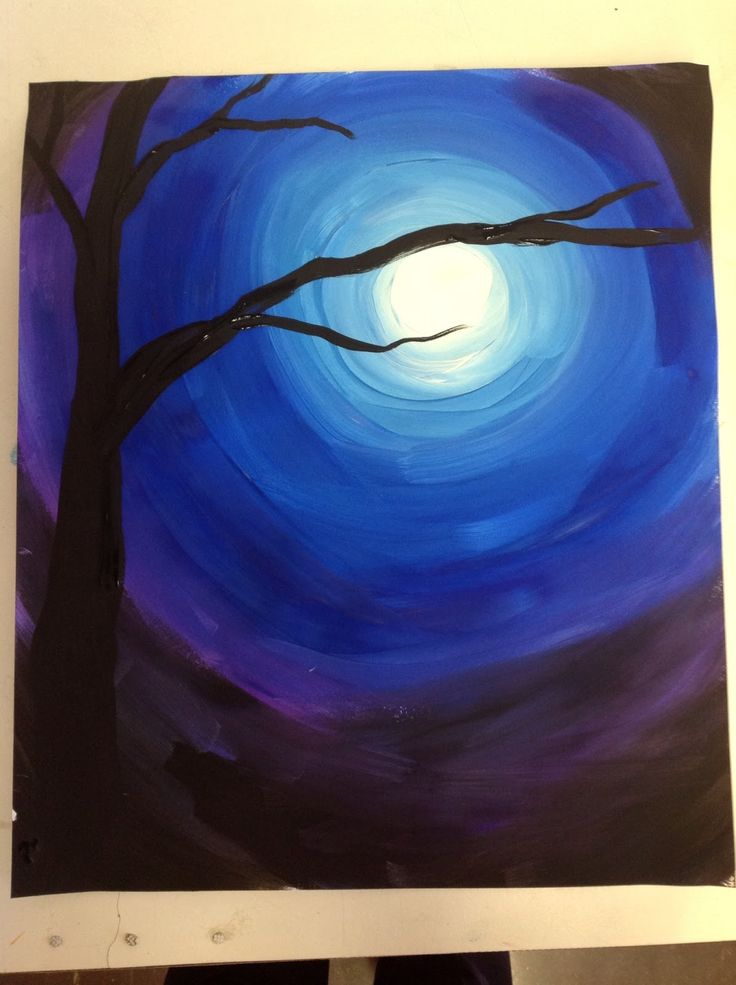 4th grade began their winter sky value study this week.  Value is the lightness and darkness of an object.  After seeing a similar painting ...