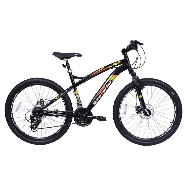 hero cycles with gear and disc brake price | Hero Sprint Ultron 26T 21 Speed Mountain Bike (Black)