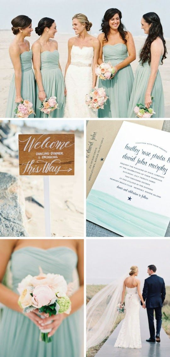 Hadley Wedding Invitation and Aqua Beach Wedding Inspiration
