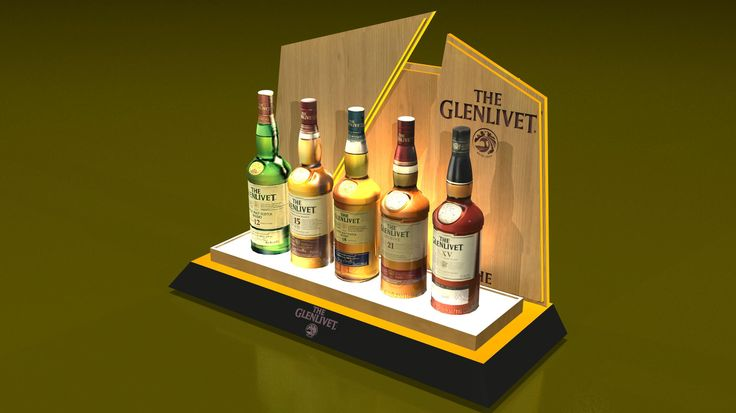 Pernod-Ricard: The Glenlivet 5 Bottles Glorifier on Behance