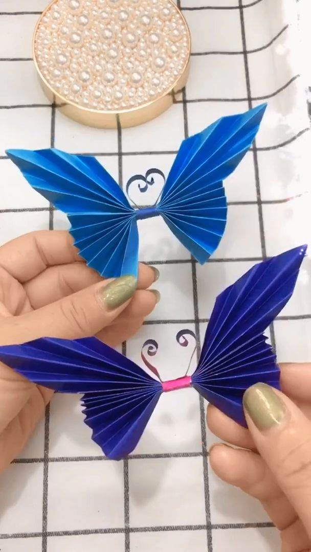 Handmade Paper Crafts, Origami Butterfly for beginners – Videos   basteln