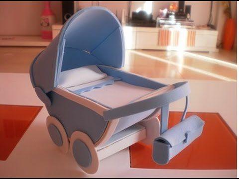 Como hacer un carrito de bebe de goma eva 1ª parte