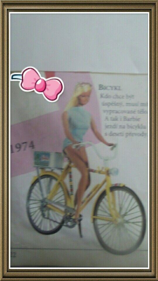 Bicykl 1974 7777 Kdo chce býk úspěšný, musí mit vypracováne tělo.  A tak i Barbie jezdi na bicyklu s deseti převody.