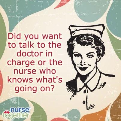 Doctors versus nurses